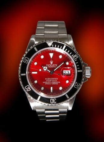 Rolex custom metallic red Dial