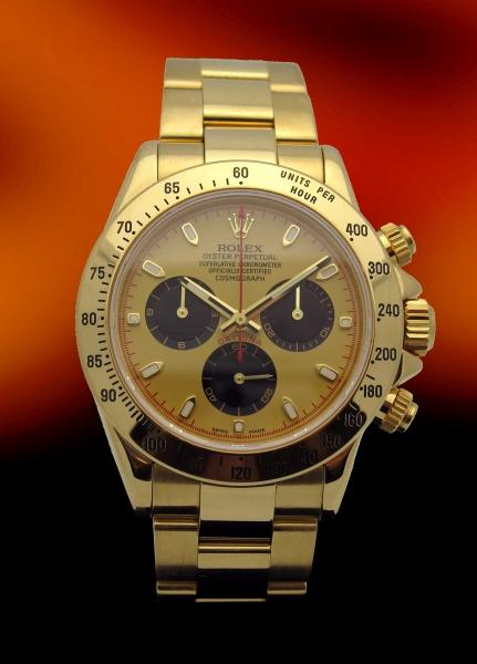 Brand new Rolex 18k yellow gold Daytona