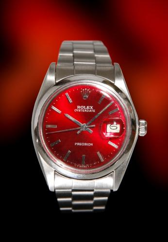 Rolex 6694 Date Plastic re-finished metallic red dial