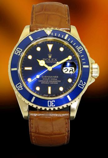 Rolex Yellow gold Submariner vintage