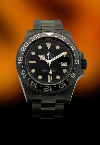 Rolex GMT II With Black DLC Case