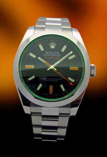 Rolex 116400V Green Glass Milgauss