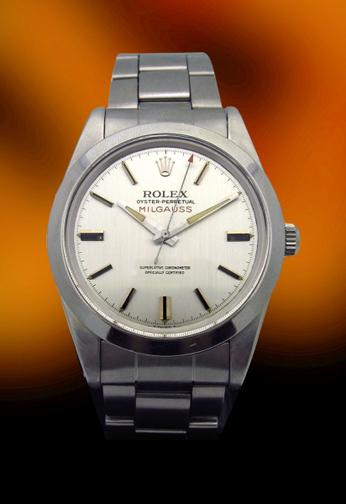 Rolex Milgauss Ref 1019 Stainless Steel Silver Dial