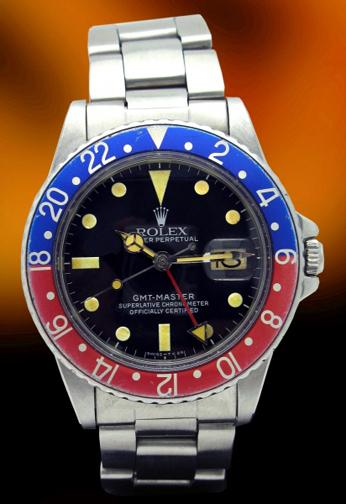 Rolex 16750 GMT patina dial