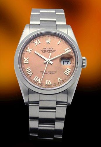 Rolex 16200 Stainless steel Date Just salmon dial