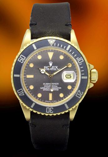 Rolex 16808 18KT Yellow gold Submariner