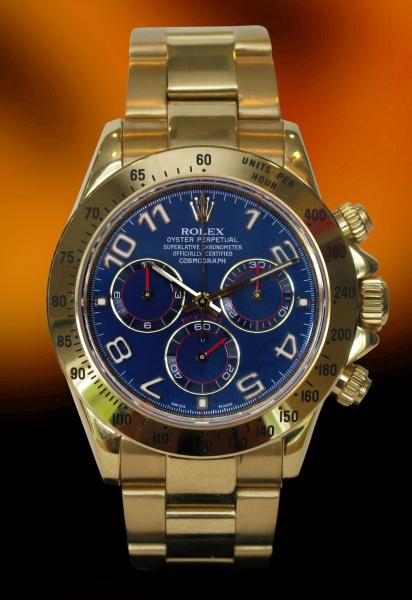 Rolex Oyster blue dial Arabic numerals