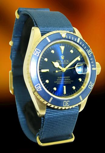 rare Rolex Submariner in 18K yellow gold