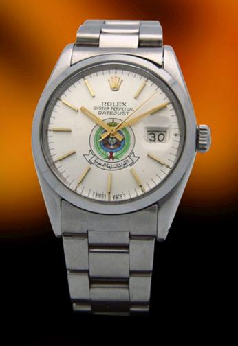 Rolex 1601 date with silver military Saudi Armed Forces