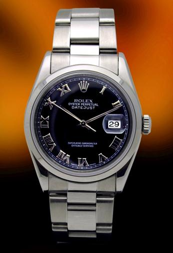 Rolex 16200 Stainless steel Date Just Black dial