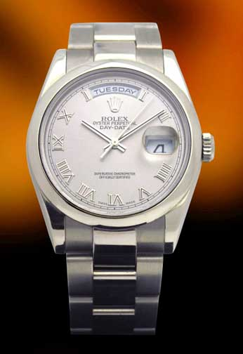 Rolex President in white gold